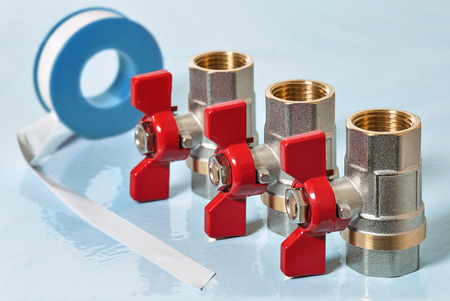 Valves for hot water and PTFE gasket