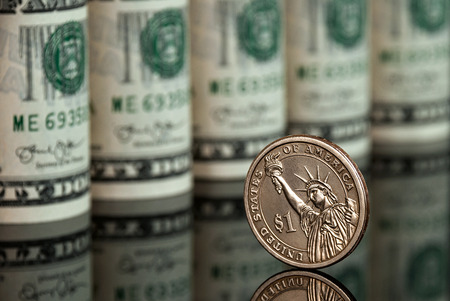 stack of cash: Dollars Stock Photo