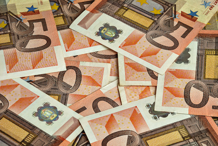 banknotes by fifty euro