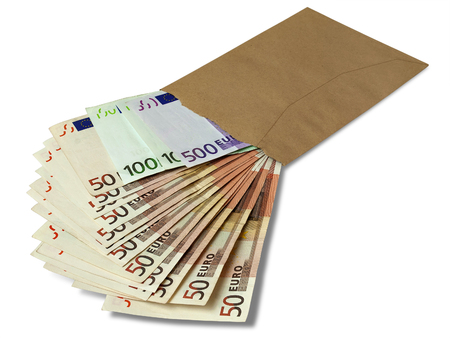 Euro in an envelope