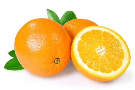 two and a half of orange on a white background