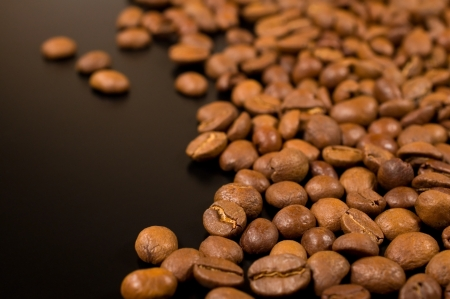 background with coffee beans close-up photo