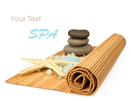 Spa still life isolated on a white background photo