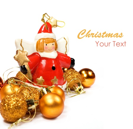 Christmas decorations in the background with a copy space Stock Photo - 14553984