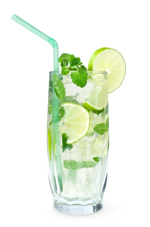 Mojito cocktail isolated on white background Stock Photo - 15373918