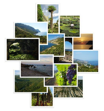 set of photographs with landscapes from travels Stock Photo - 16701131