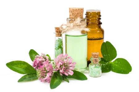 blooming clover and aromatic oils