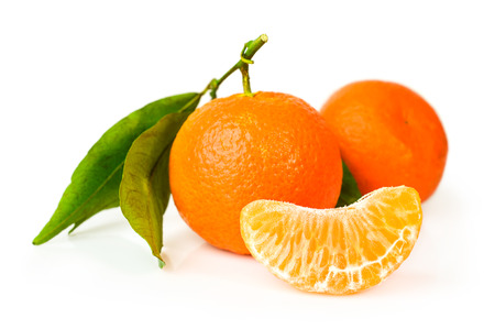 Mandarin isolated on a white background
