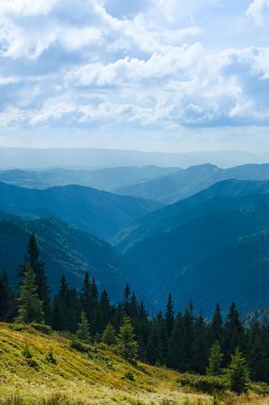 wnc: Mountain ridges of bright sunny day in Ukrainian Carpathians