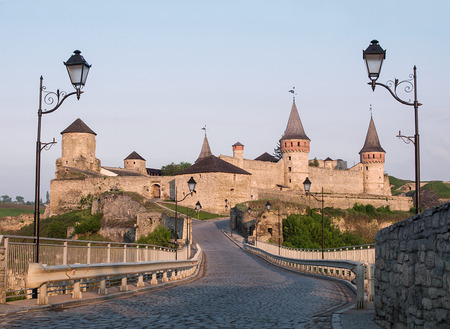 ukraine: Medieval Castle. Ukraine, Kamenets-Podolsk Editorial