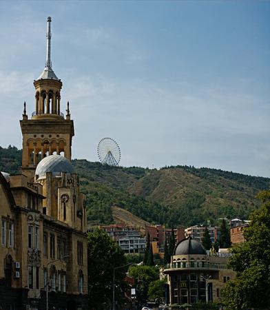 tbilisi: Architecture of Tbilisi, Georgia. Stock Photo