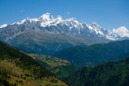 svaneti: Caucasus mountains. Upper Svaneti, Georgia Stock Photo