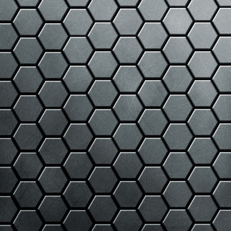 brushed aluminium: Metal background with hexahedron texture