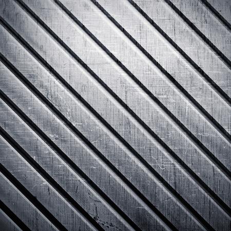 diagonal stripes: Grunge diagonal stripes on a metal background Stock Photo