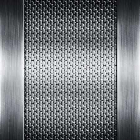 shiny metal background: Abstract background with a shiny metal texture