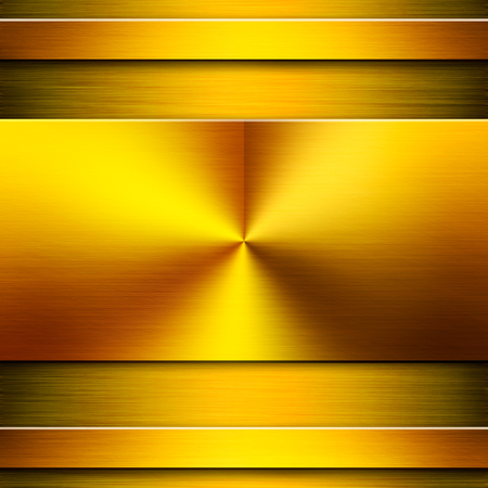 nameboard: Gold metal background texture with a nameboard