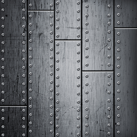 rivets: Abstract background. Brushed metal texture with rivets. Stock Photo