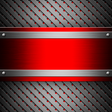 nameboard: Metallic texture with red nameboard
