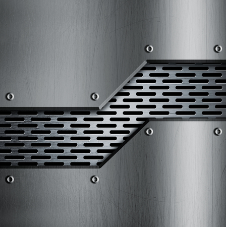 rivets: Metal template background with rivets