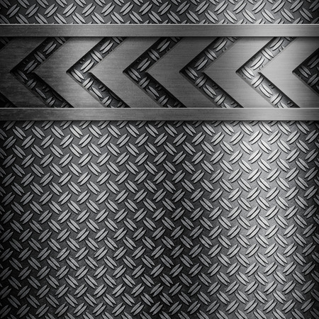tread: Metal background with tread plate pattern Stock Photo