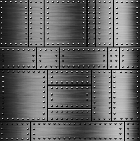 rivets: Metal background with a rivets Stock Photo