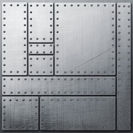 rivets: Aluminum background with a rivets