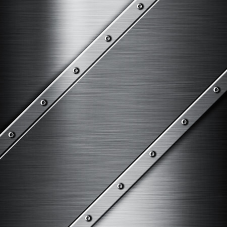 shiny metal background: Image of a shiny brushed metal background Stock Photo