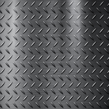 metal grunge: Diamond cut steel plate for a background