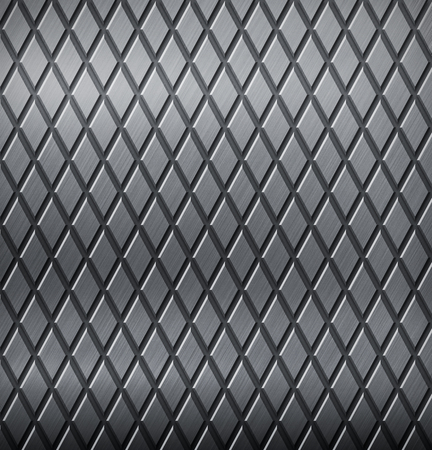 tread: Grey metal background with a tread