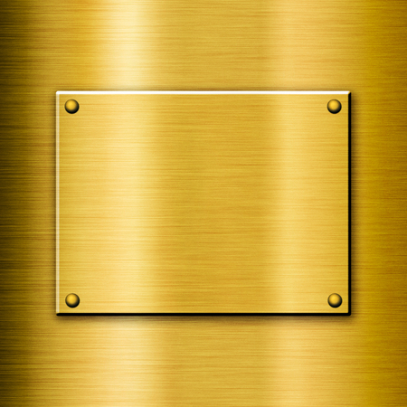 polished: Shiny polished golden background with a plate
