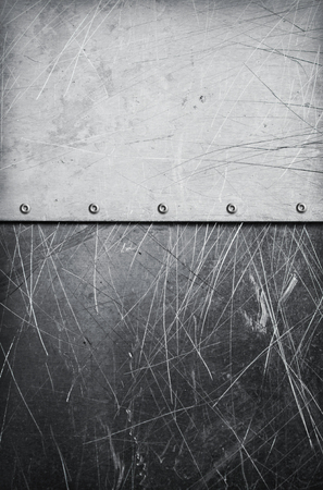 rivets: Grunge aluminum textured background with rivets and scratches