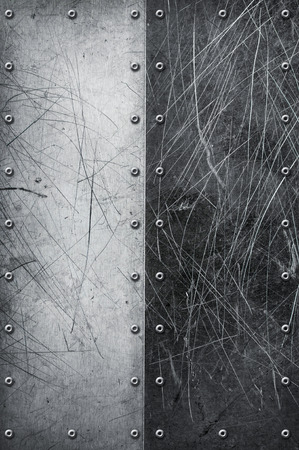 rivets: Grunge aluminum textured background with rivets