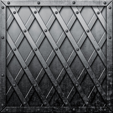 rivets: Old metal background with rivets