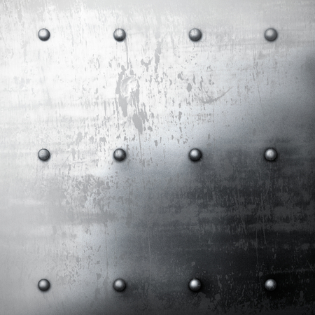 rivets: The grey grunge metal background with rivets Stock Photo