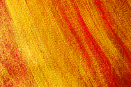 dabs: Abstract background with dabs of gold and red paint Stock Photo