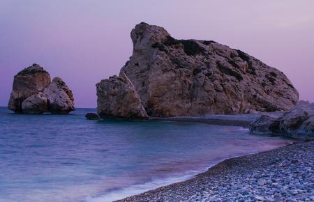 tou: Birthplace of Aphrodite, Petra tou romiou, Cyprus. Stock Photo