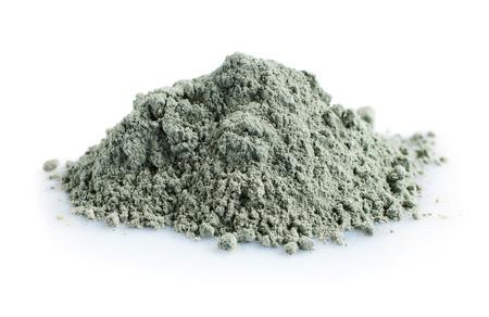 白い背景に分離された青い化粧品クレイの山 写真素材 - 58788309