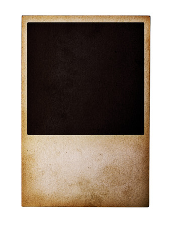 confines: Old instant photos film isolated on white background