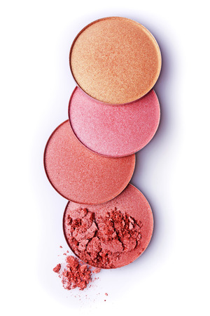 ceremonial make up: Blush or face powder isolated on white