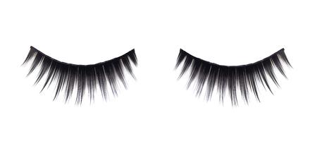 pestaÑas postizas: False eyelashes isolated on white background