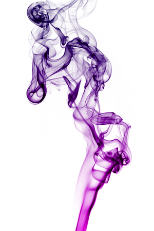 Transparented colorful cloud of smoke isolated on white background