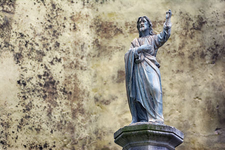 Statue of Jesus Christ as a concept of Christian religion Stock Photo