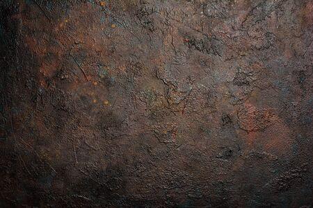 Empty textured brutal dark brown concrete background