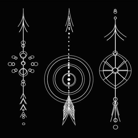 tattoo arrows Ilustrace