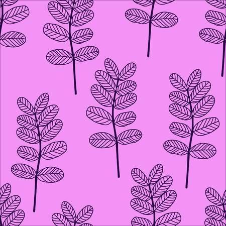 acacia leaves seamless pattern