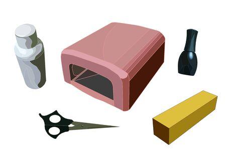 a realistic nail gel polish manicure set