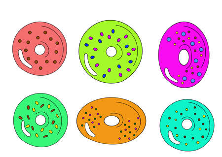 colored sweets donuts or candie vector art 向量圖像