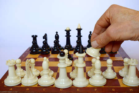 In the opening of the chess game, the player plays the horse.