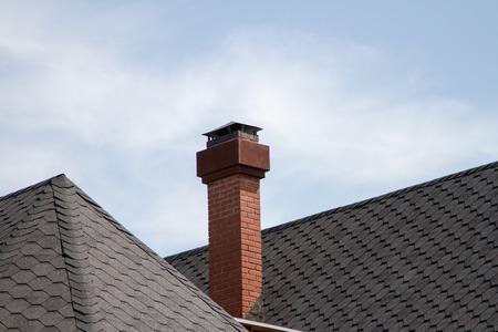 cement chimney: brick chimney Stock Photo