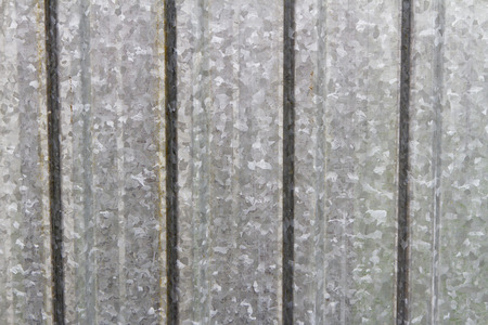 metal sheet: galvanized metal sheet with rust stood out Stock Photo